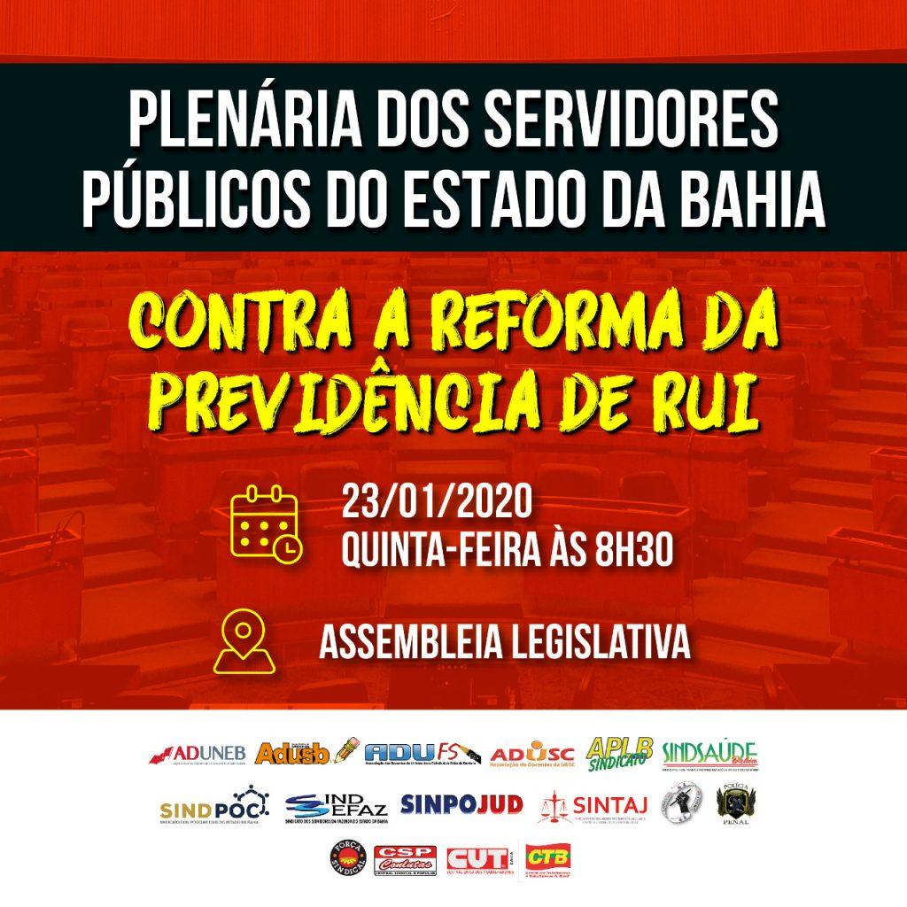 Plenária dos servidores públicos do Estado da Bahia, participe!
