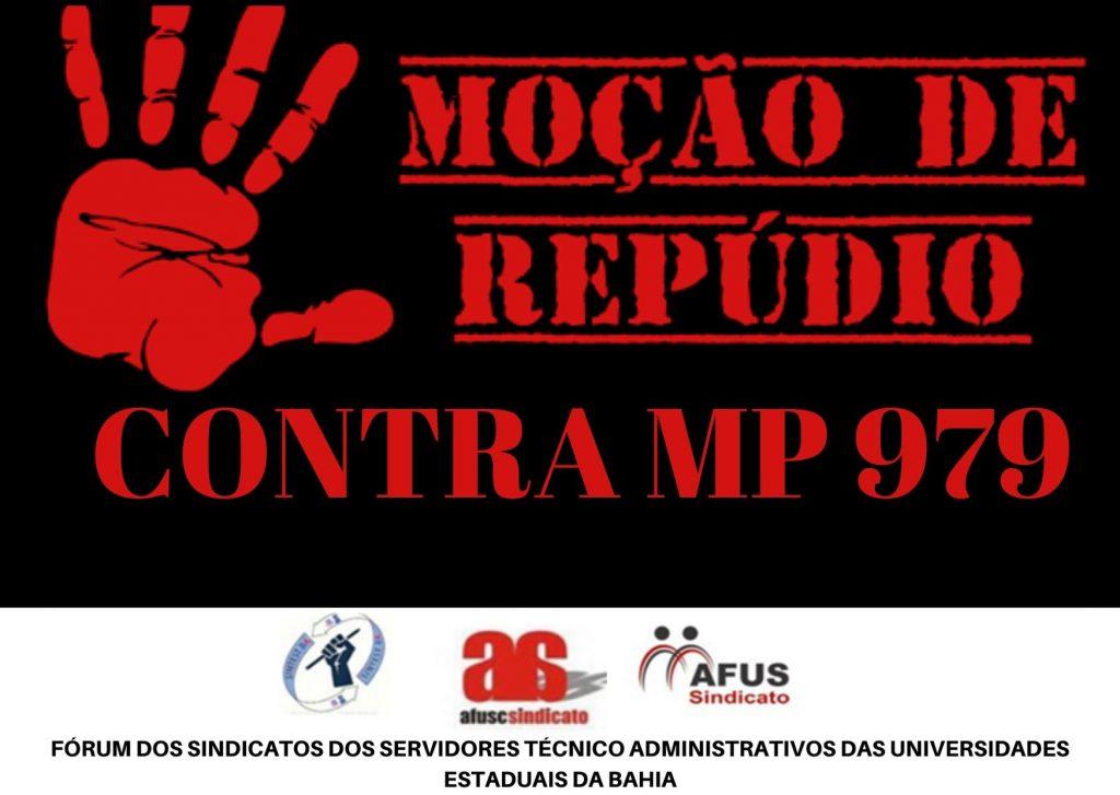 MOÇÃO DE RÉPUDIO DO FÓRUM DOS TÉCNICOS CONTRA MP 979