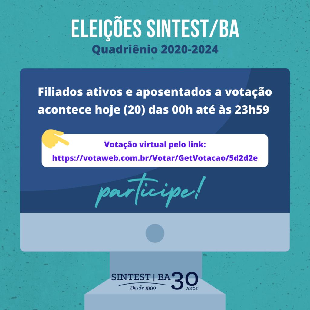 Eleições SINTEST/BA: Acesse aqui o link para a votação