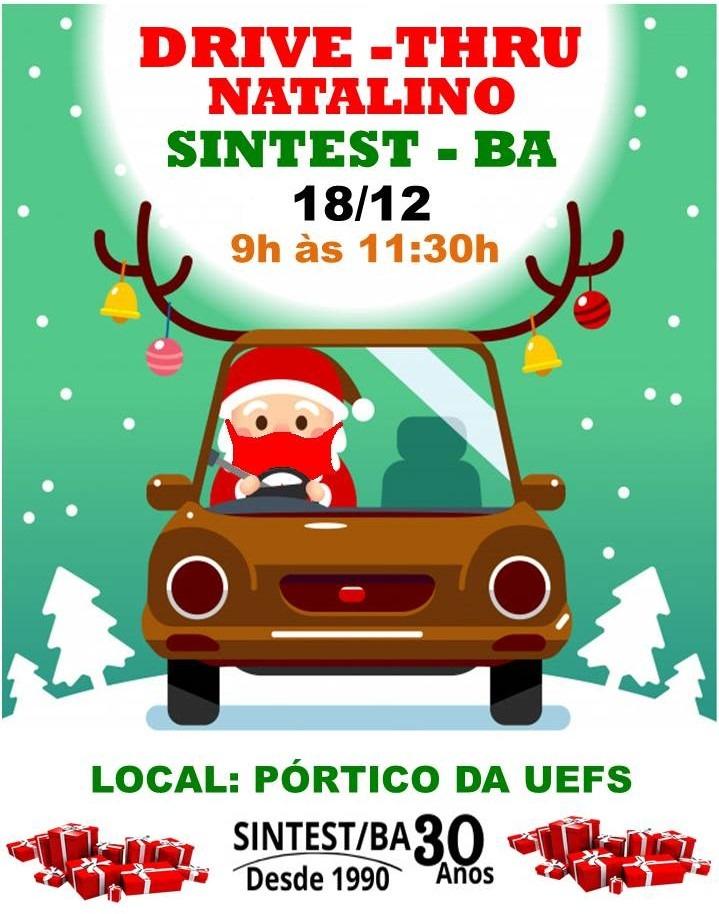SINTEST-BA promove Drive-Thru Natalino no próximo dia 18/12