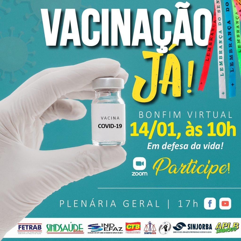 Bonfim virtual terá mobilização pró vacinação contra a COVID-19