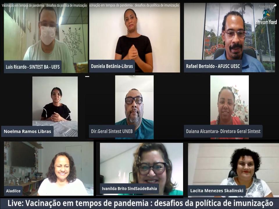 Fórum dos Técnicos das UEBA promove live sobre a vacinação em tempos de pandemia