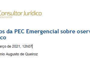 Efeitos da PEC Emergencial sobre o servidor público