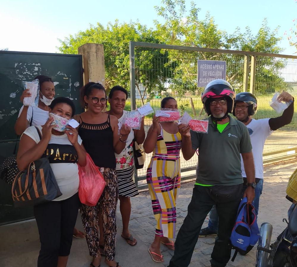 Sintest faz doações de máscaras para prevenção contra o Coronavírus