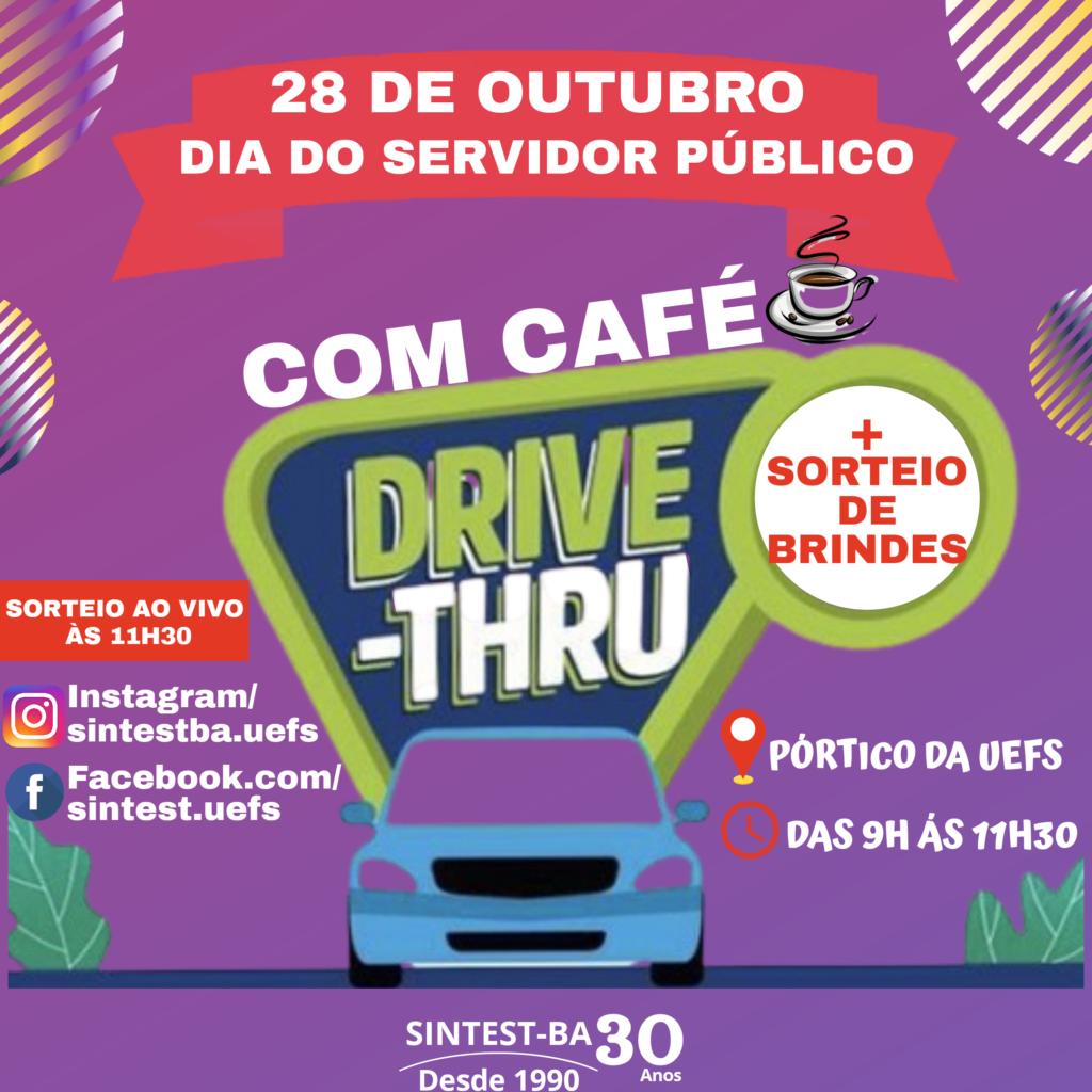 Sintest convida o(a)s filiado(a)s para participar do Dia do Servidor em formato Drive-Thru