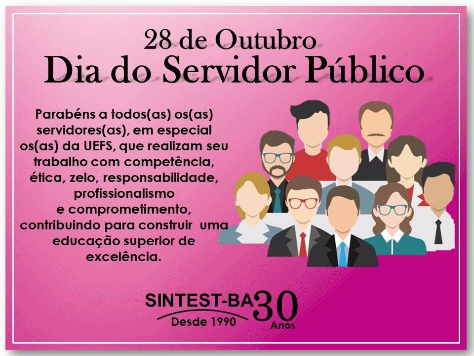 28 de Outubro- Dia do Servidor Público