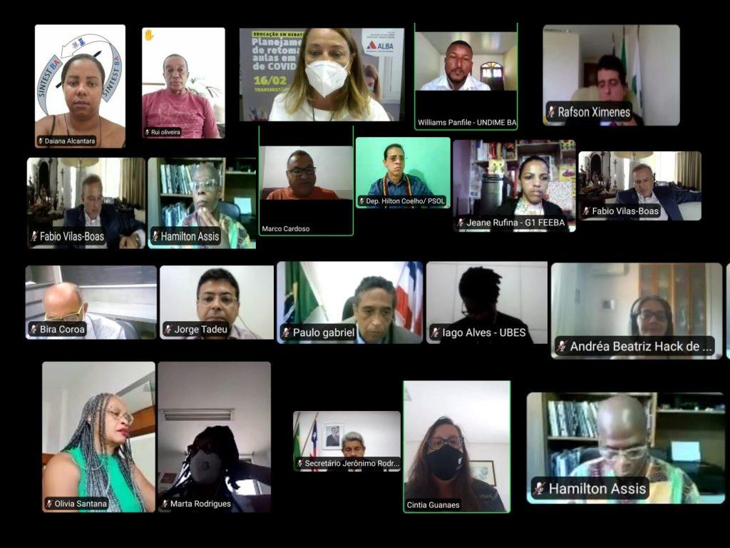 SINTEST-BA participa de uma audiência pública virtual com o tema: Planejamento de retomada das aulas em tempos de Covid-19
