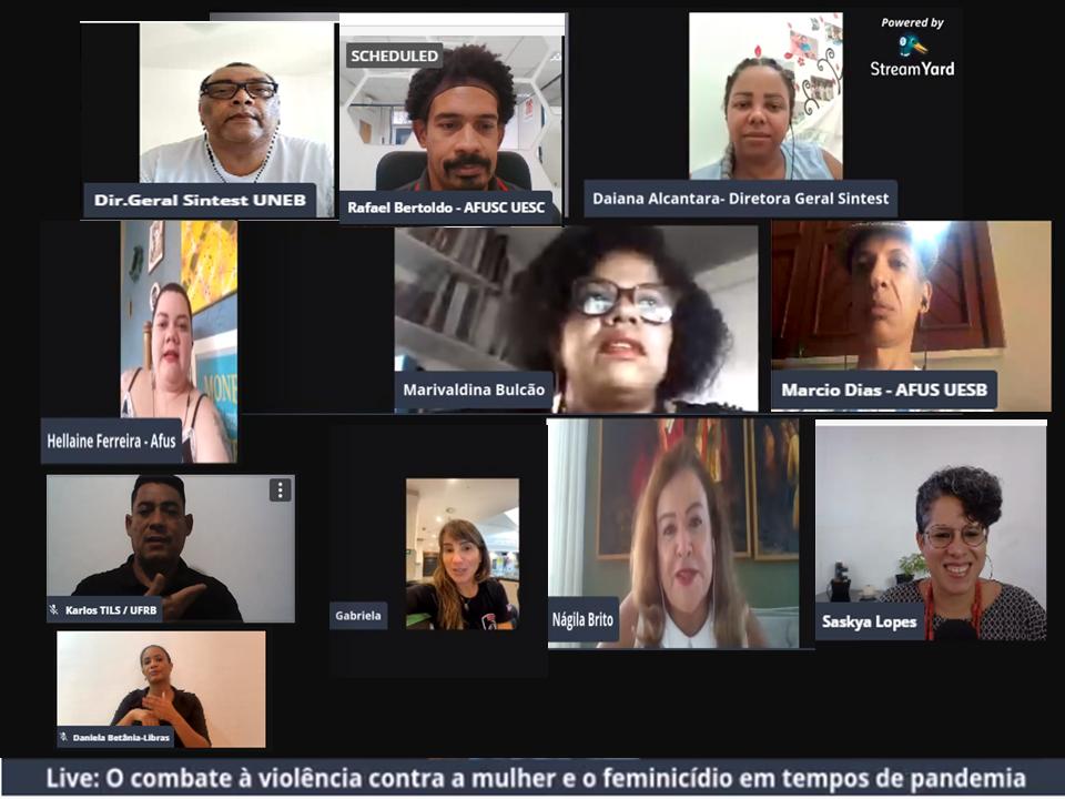 Live do Fórum dos Técnicos das UEBA debate a violência contra a mulher e o feminicídio em tempos de pandemia