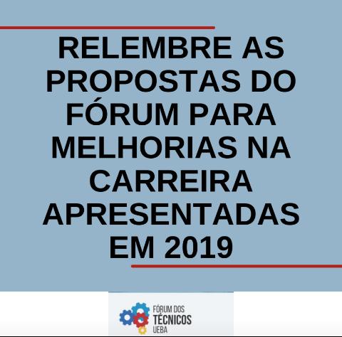 Relembre as propostas do Fórum para melhorias apresentadas em 2019