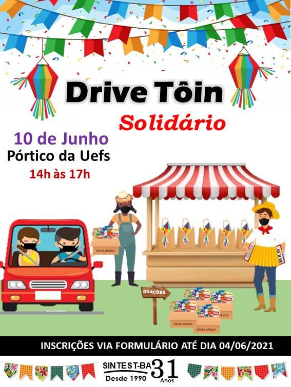 Sintest promove Drive Tôin Solidário