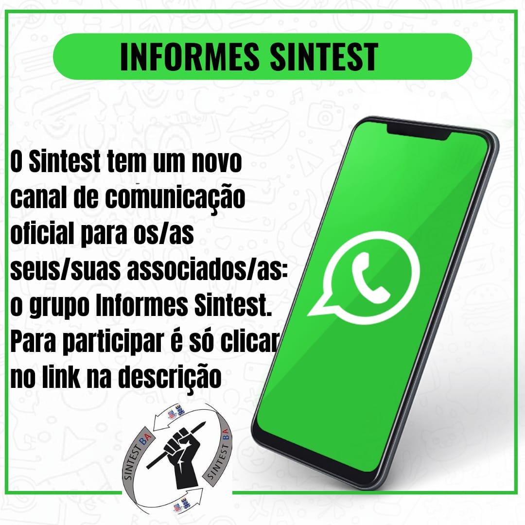 O Sintest tem um novo canal de comunicação oficial com os seus associados/as: o grupo informes Sintest.