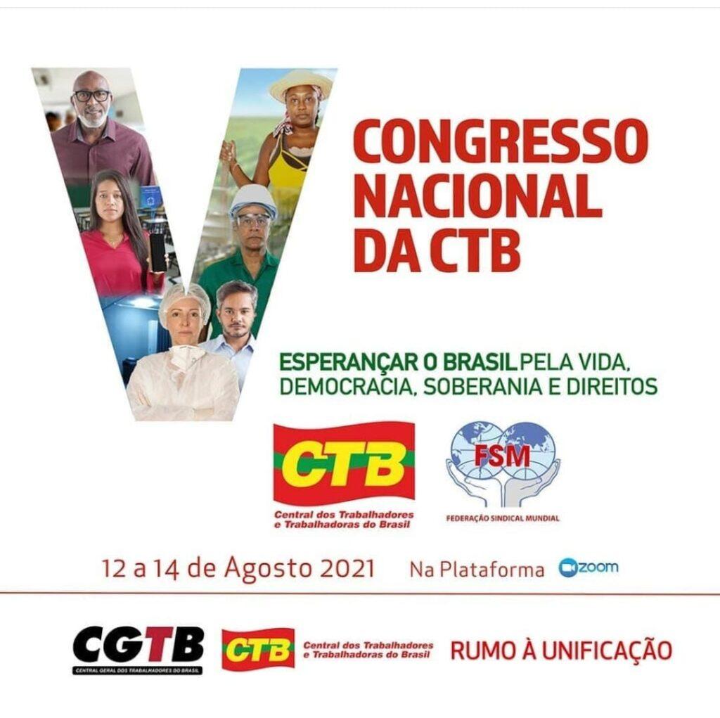 SINTEST-BA participará do V Congresso Nacional da CTB
