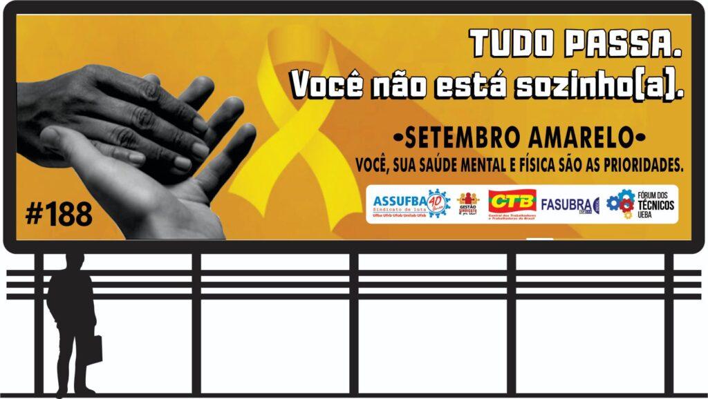 Fórum dos Técnicos dá início à campanha Setembro Amarelo com instalação de outdoors e atividades voltadas para o bem estar da categoria