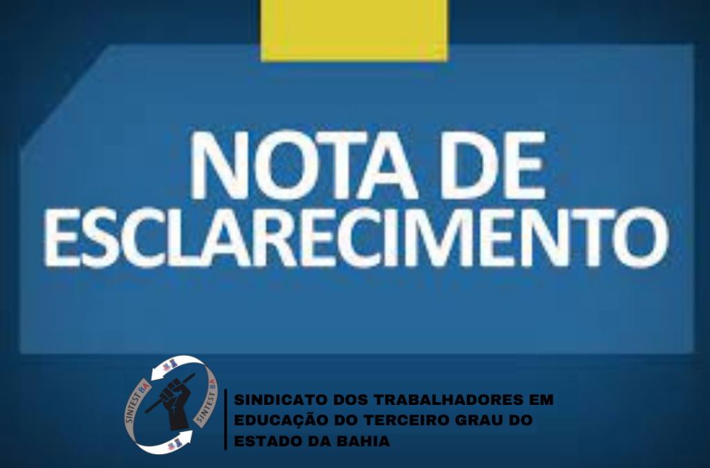 Nota de esclarecimento sobre informações veiculadas acerca da Promoção da carreira dos Técnicos e Analistas Universitários