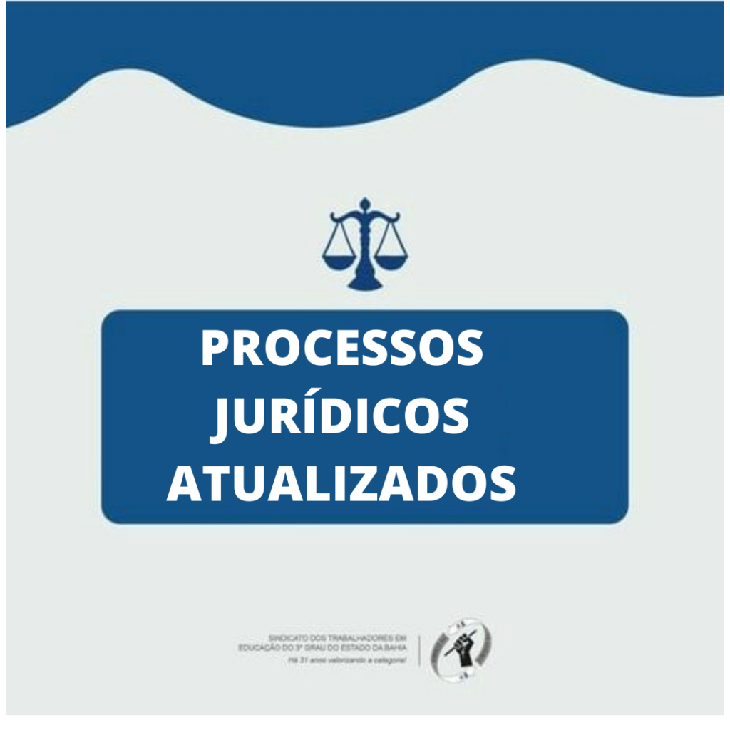 PROCESSOS JURÍDICOS ATUALIZADOS