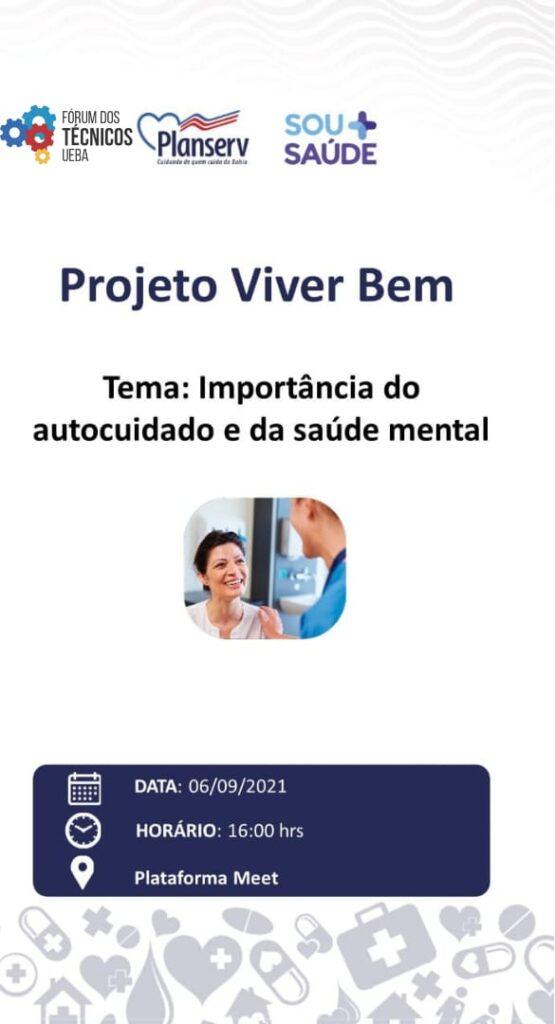 """""""A Importância do autocuidado e da saúde mental"""" será tema de palestra promovido pelo Fórum dos Técnicos em parceria com Planserv, participe!"""