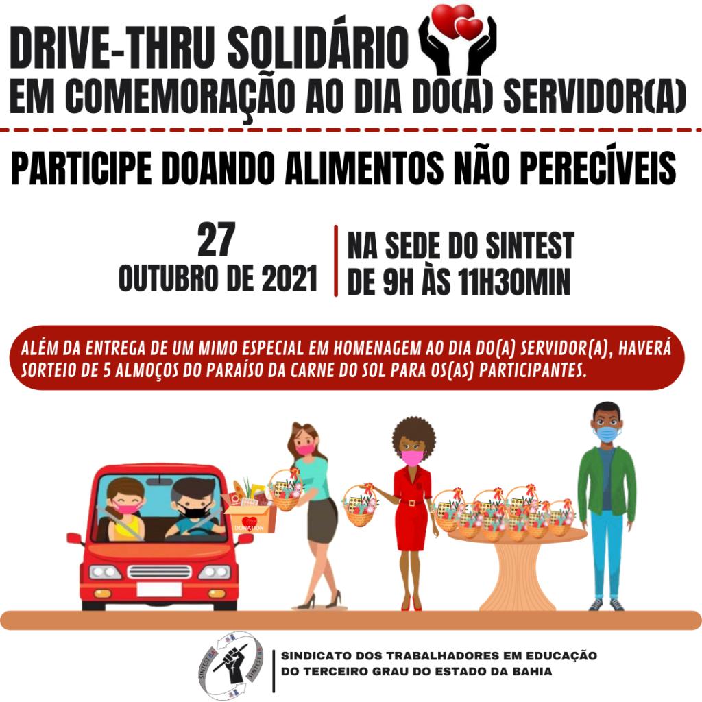 SINTEST promove Drive-Thru Solidário em comemoração ao Dia do(a) Servidor(a)